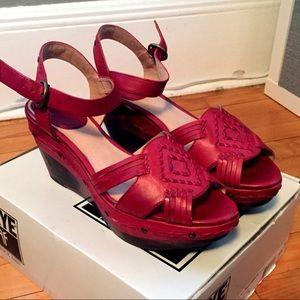 Frye Shoes Boho Brown Leather Platform Sandal Poshmark